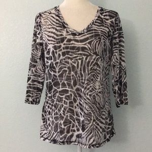 Tops - 3 for $10~Style & Co Sheer 3/4 Sleeve Top 10PE